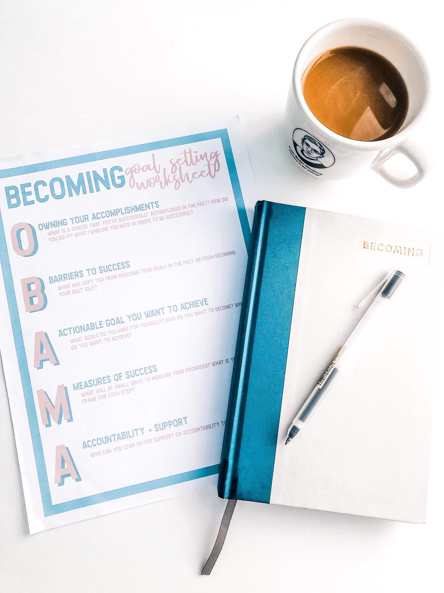 Becoming Goal Setting Worksheet