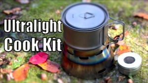 The Toaks 550 ML modified cook kit.