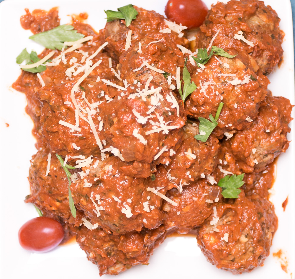 Smoked Mozzarella Meatballs