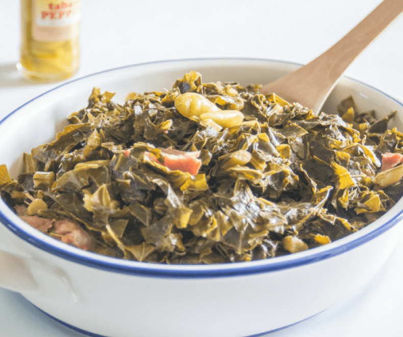 Tender collard greens, southern as you can get!