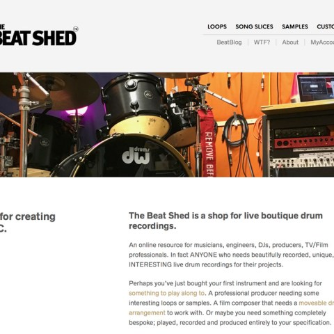 Drum Recordings - The Beat Shed - Boutique Loops, Samples