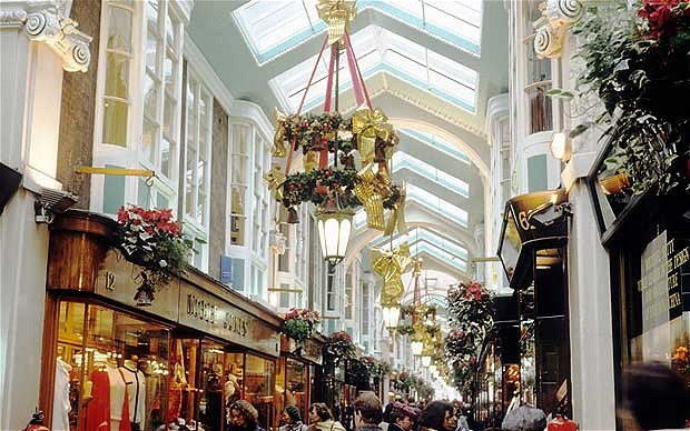 View of main hall of the Burlington Arcade for the Beau Monde blog