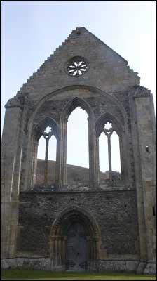 Close up of church ruin