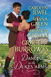 Cover image for the anthology Dancing in the duke's arms featuring Miranda Neville, Carolyn Jewel, Shana Galen, and Grace Burrowes