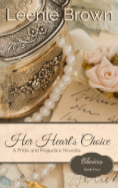 Cover image for HER HEART'S CHOICE by Leenie Brown
