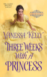 Cover image for Three Weeks With a Princess by Vanessa Kelly