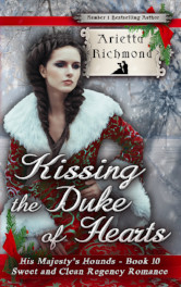 Cover image for Kissing the Duke of Hearts by Arietta Richmond