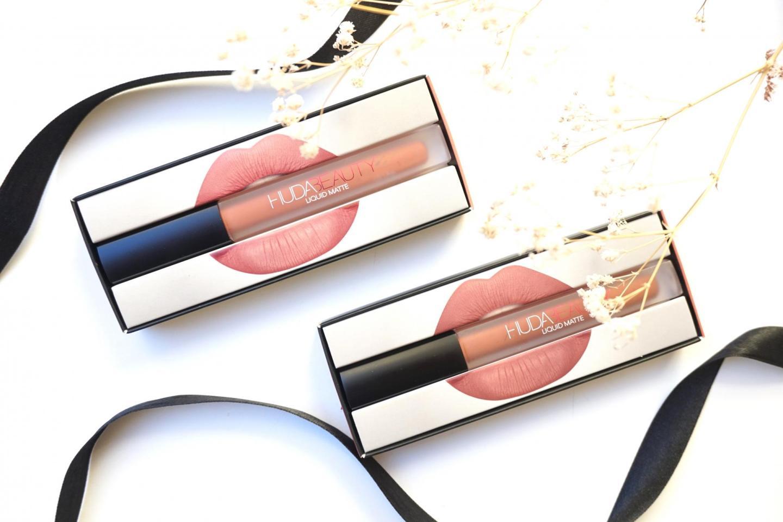 Huda Beauty: Liquid Matte Lipstick in Bombshell and Trendsetter