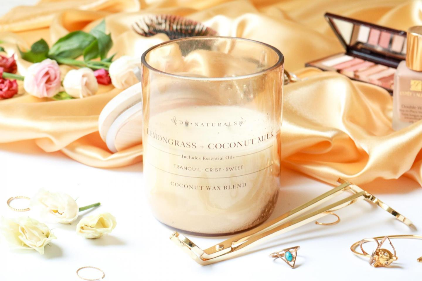 Lemon Grass and Coconut Milk Scented Candle by DW Home