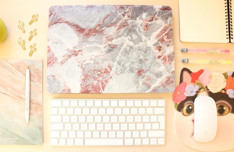 Hoesjesdirect Mobigear Macbook Marble Case