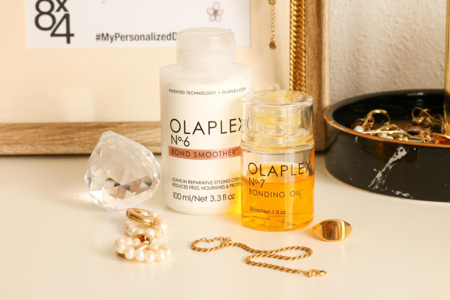 Olaplex no.6 Bond smoother and no.7 Bonding Oil
