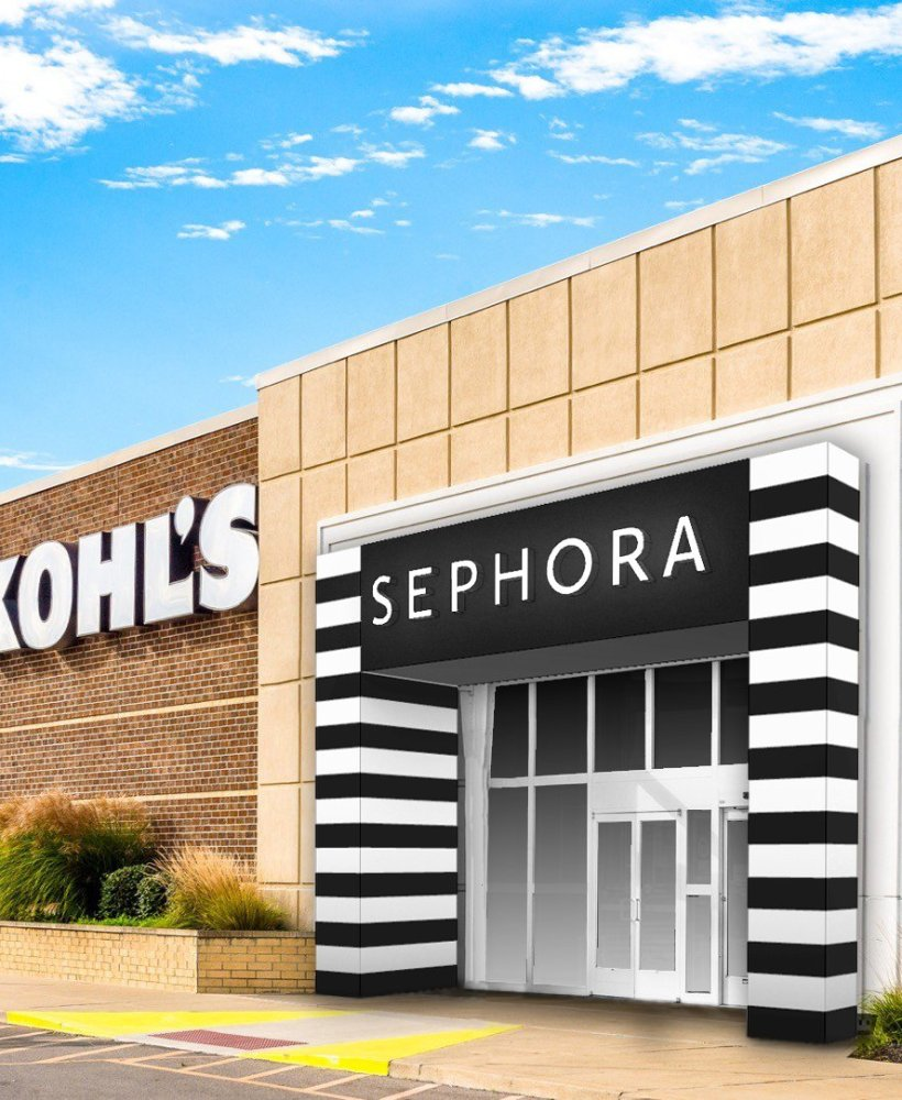 an exterior of what Sephora at Kohl's would look like