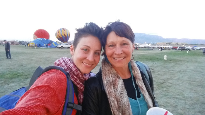 Me and mom at the International Balloon Fiesta in Albuquerque