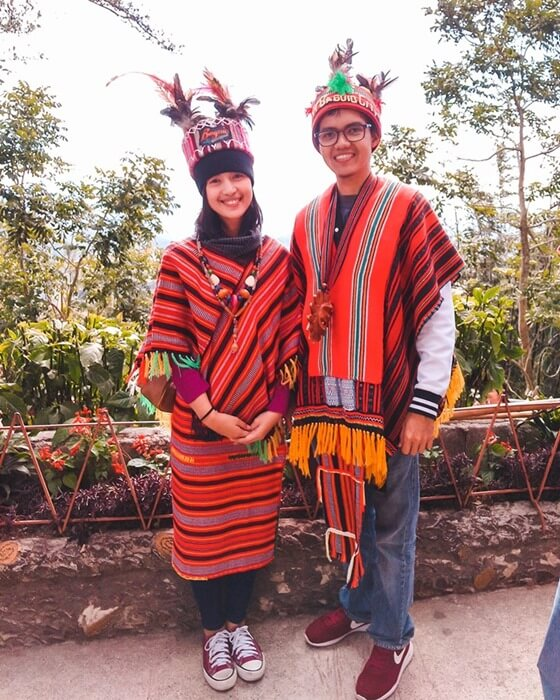 Traditional Ifugao Clothing in Baguio, Philippines.