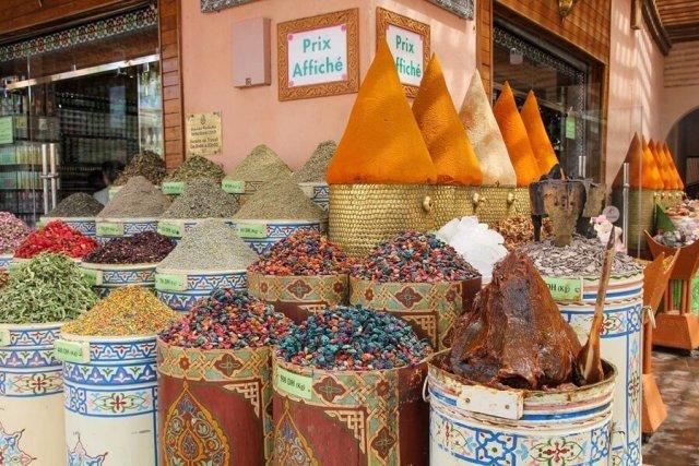 Bazaar of Marrakesh.