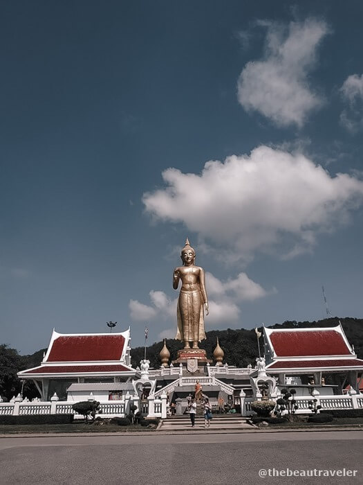 The temple at the top of the mountain at Hat Yai Municipal Park.