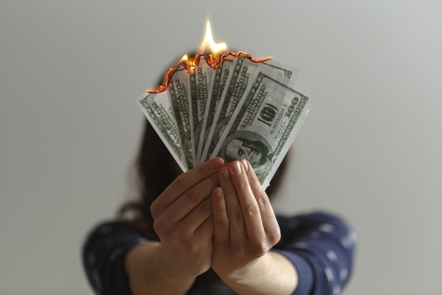 burning money in the business.