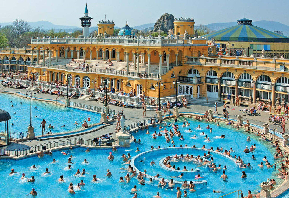 "Szechenyi Baths - A Guide to Budapest Thermal Baths. Bathing in thermal waters has been part of everyday life in Budapest for centuries. Officially named ""The City of Spas"". which of Budapests baths should you visit. www.awelltravelledbeauty.com"