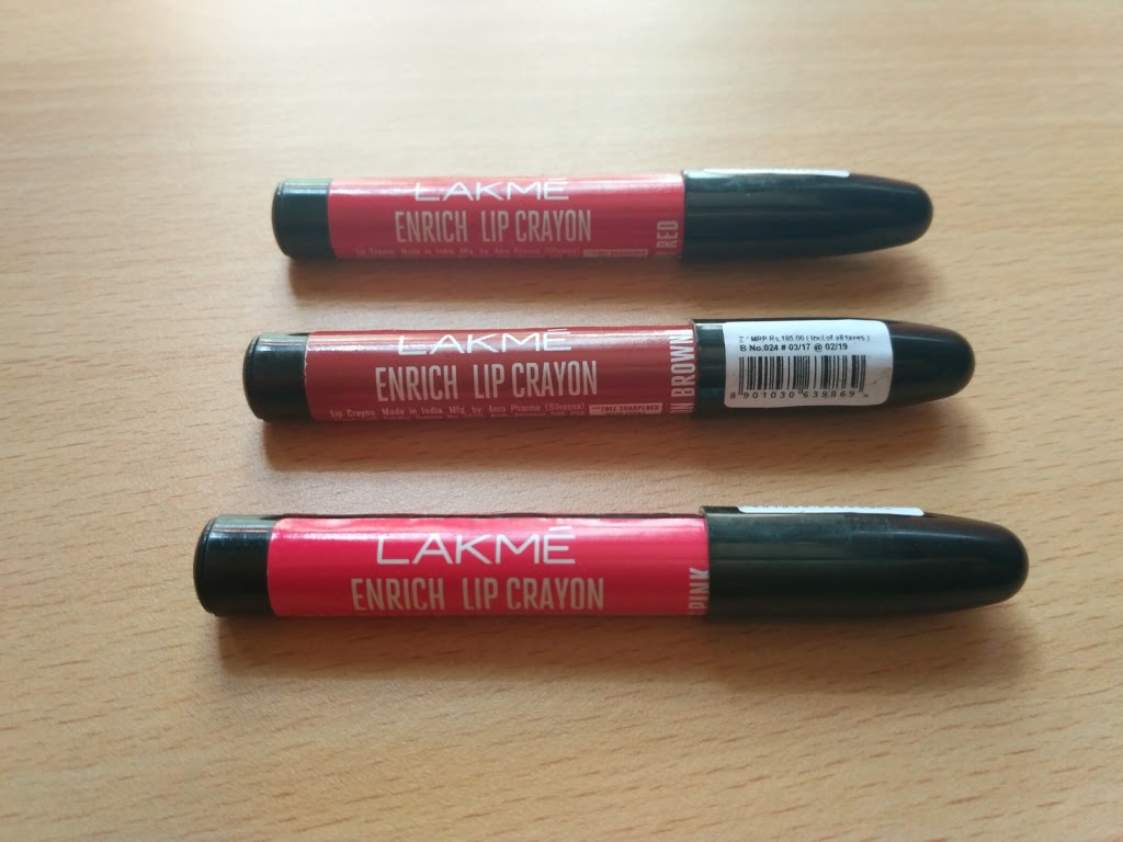 Lakme Enrich Lip Crayons | Review & Swatches
