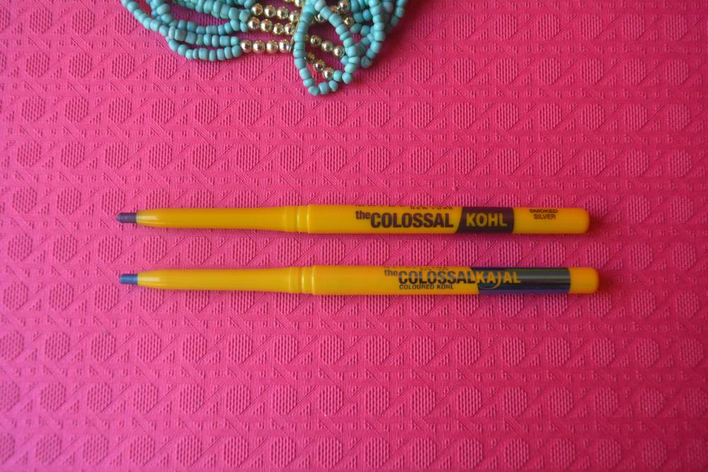 Maybelline Colossal Kohl Kajal - Turquoise & Smoked Silver | Review