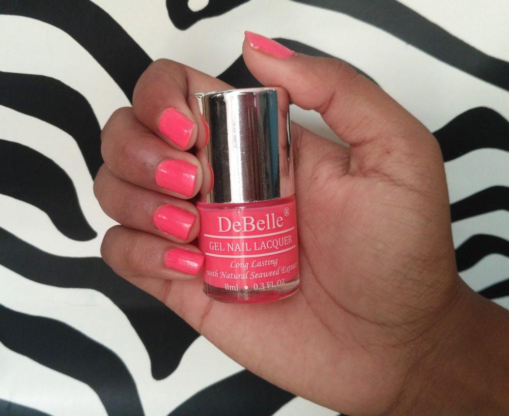 DeBelle Gel Nail Lacquer Natural Blush & Bebe Kiss | Review