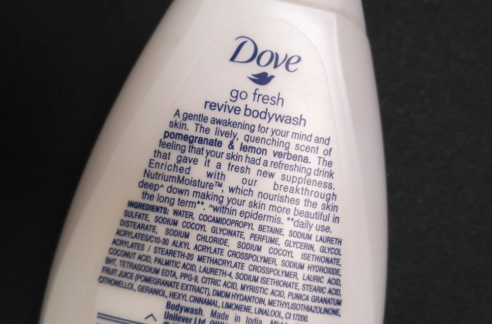 Dove Go Fresh Revive Pomegranate Body Wash Price