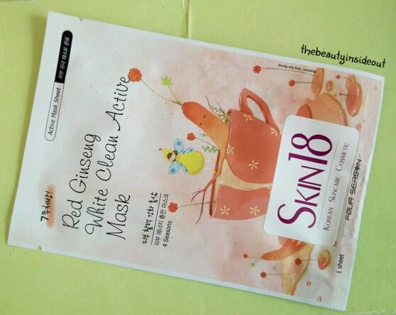 Oh Cute Box May 2016 Skin18 Red Gingseng Mask