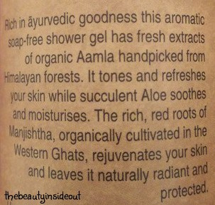 Soultree Wild Aamla Aloe Rejuvenating Manjistha Shower Gel Product Description