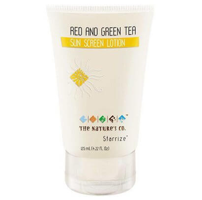 Best Chemical Free Sunscreen-The Natures Co Red and GreenTea Sunscreen