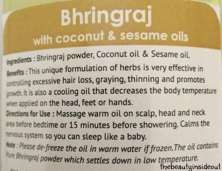 Soulflower Bhringraj Oil Description