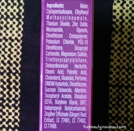 ponds-bb-cream-ingredients