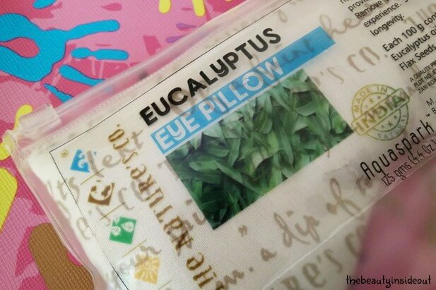 The Nature's Co Eucalyptus Eye Pillow