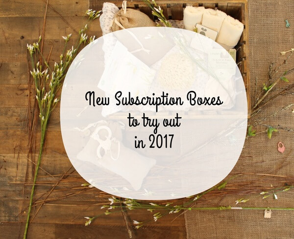 New Subscription Boxes To Try Out In 2017