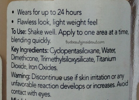 Revlon Colorstay Makeup Foundation Ingredients