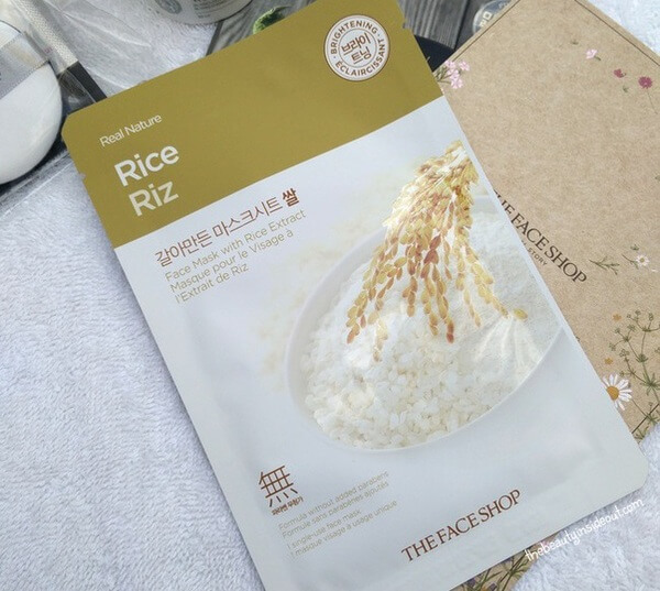 The Face Shop Experience Kit - Real Nature Rice Face Mask