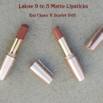 Lakme 9to5 Matte Lipsticks Review
