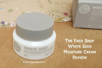 The Face Shop White Seed Blanclouding White Moisture Cream Review