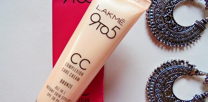 Lakme 9 to 5 CC Complexion Care Cream Bronze Review