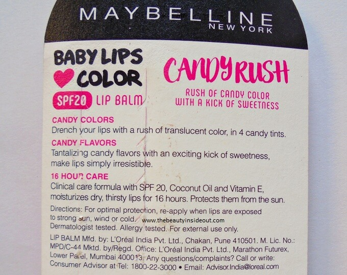 Maybelline Baby Lips Candy Rush Product Details