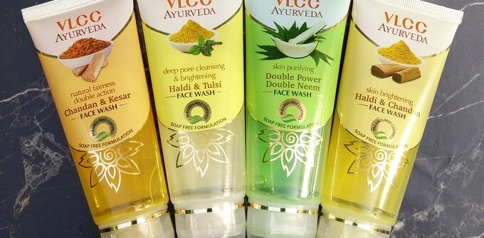 VLCC Ayurveda Face Wash Review - All 4 variants