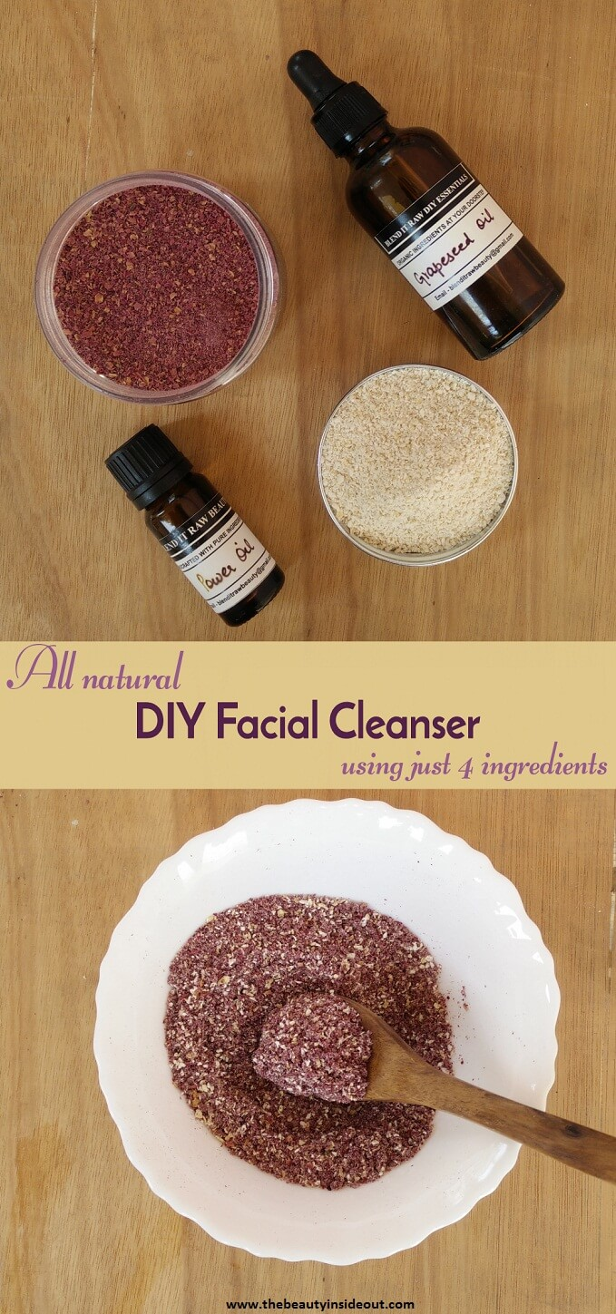 All Natural DIY Facial Cleanser using just 4 ingredients
