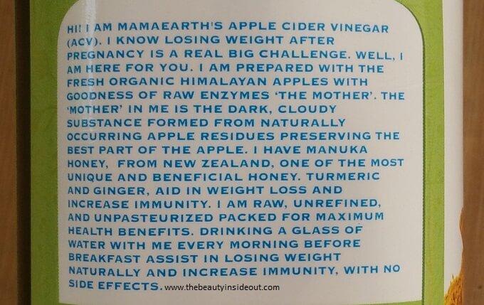 Mamaearth Organic Apple Cidar Vinegar