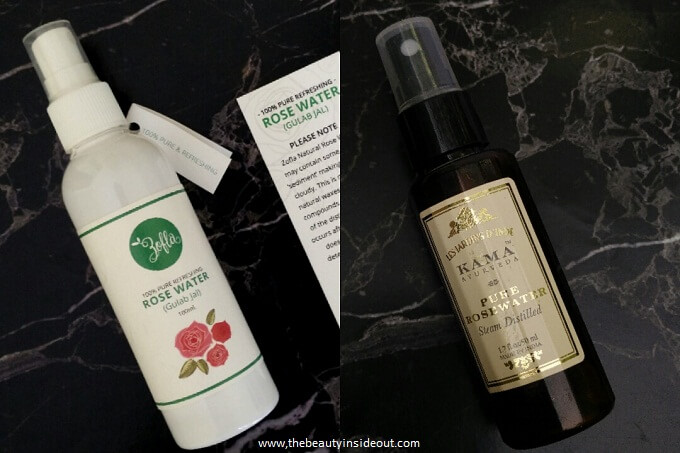 Zofla Rose Water - COmparison with Kama Ayurveda Rose Water