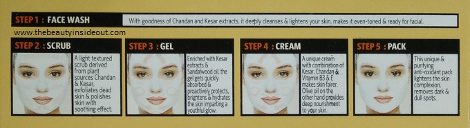 Steps to use VLCC Ayurveda Facial Kit