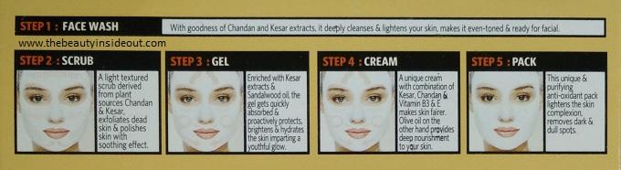 Steps to use VLCC Ayurveda Facial Kit