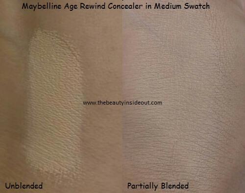 Maybelline Age Rewind Concealer in Medium Swatches