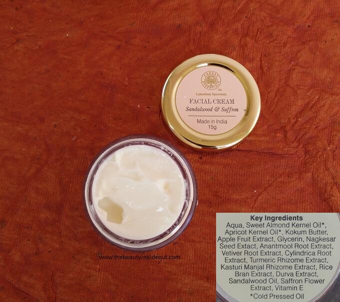 Forest Essentials Facial Cream Sandalwood and Saffron