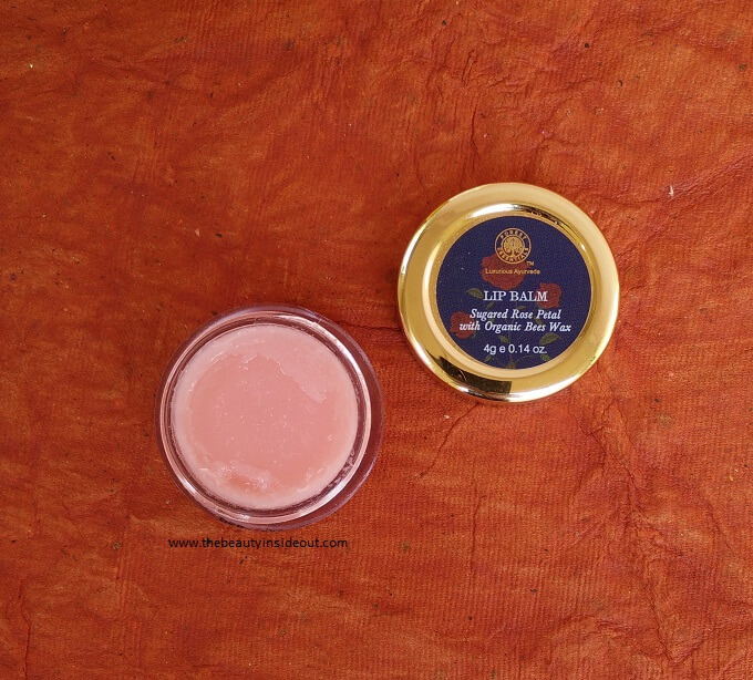 Forest Essentials Luscious Sugared Rose Petal Lip Balm