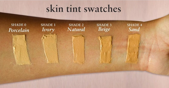 Just Herbs Skin Tint Swatches of all shades