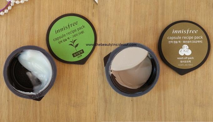 Innisfree Capsule Recipe Packs